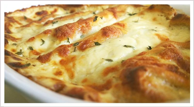 Cannelloni crepes alfredo