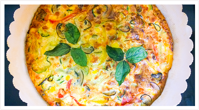 Spring crustless quiche