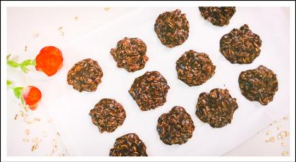 עוגיות שוקולד צ'יפס ושיבולת שועל טבעוניות